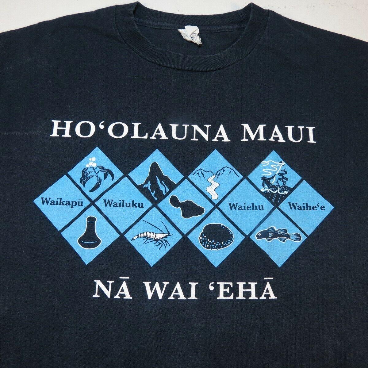 Vintage Hawaii Travel Decal T-Shirt Islands Maui King Kamehameha Honolulu