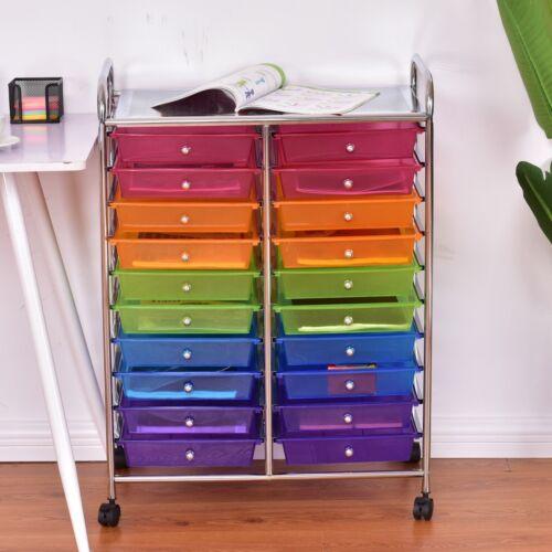 20 drawers rolling cart storage scrapbook paper