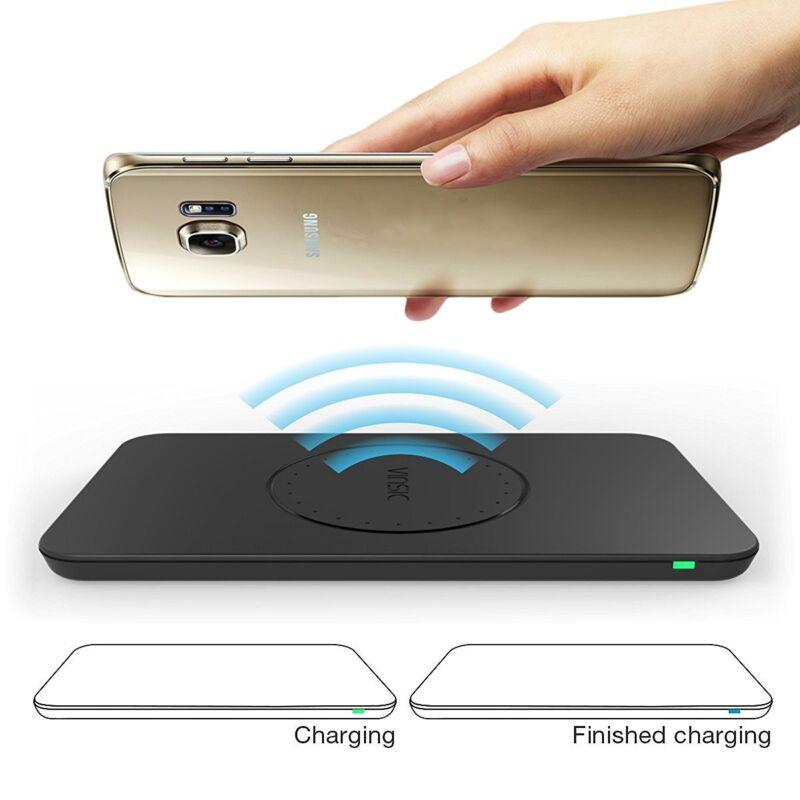 Wireless Ladegerät ,Vinsic Qi 3 Spulen Induktionsladegeräte für Samsung