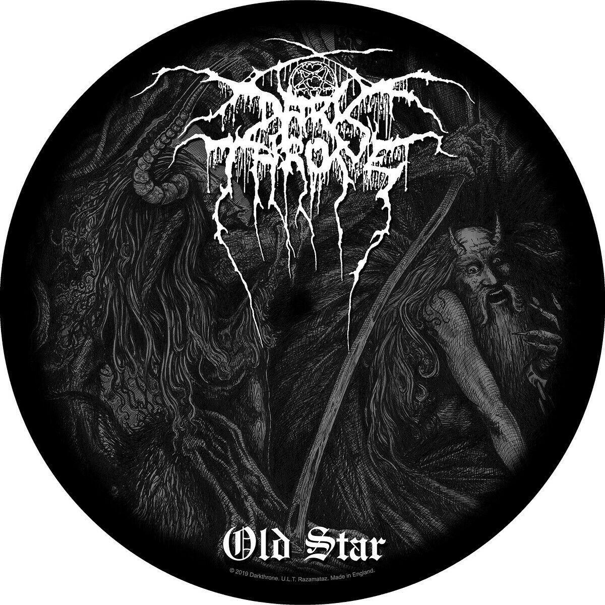 DARKTHRONE DJ SLIPMAT FILZMATTE OLD STAR - 2er SET