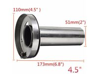 """EVT89 Pypes 304 Stainless Steel 2.5/"""" Inlet Round Angle Cut Clamp-On Exhaust Tips"""