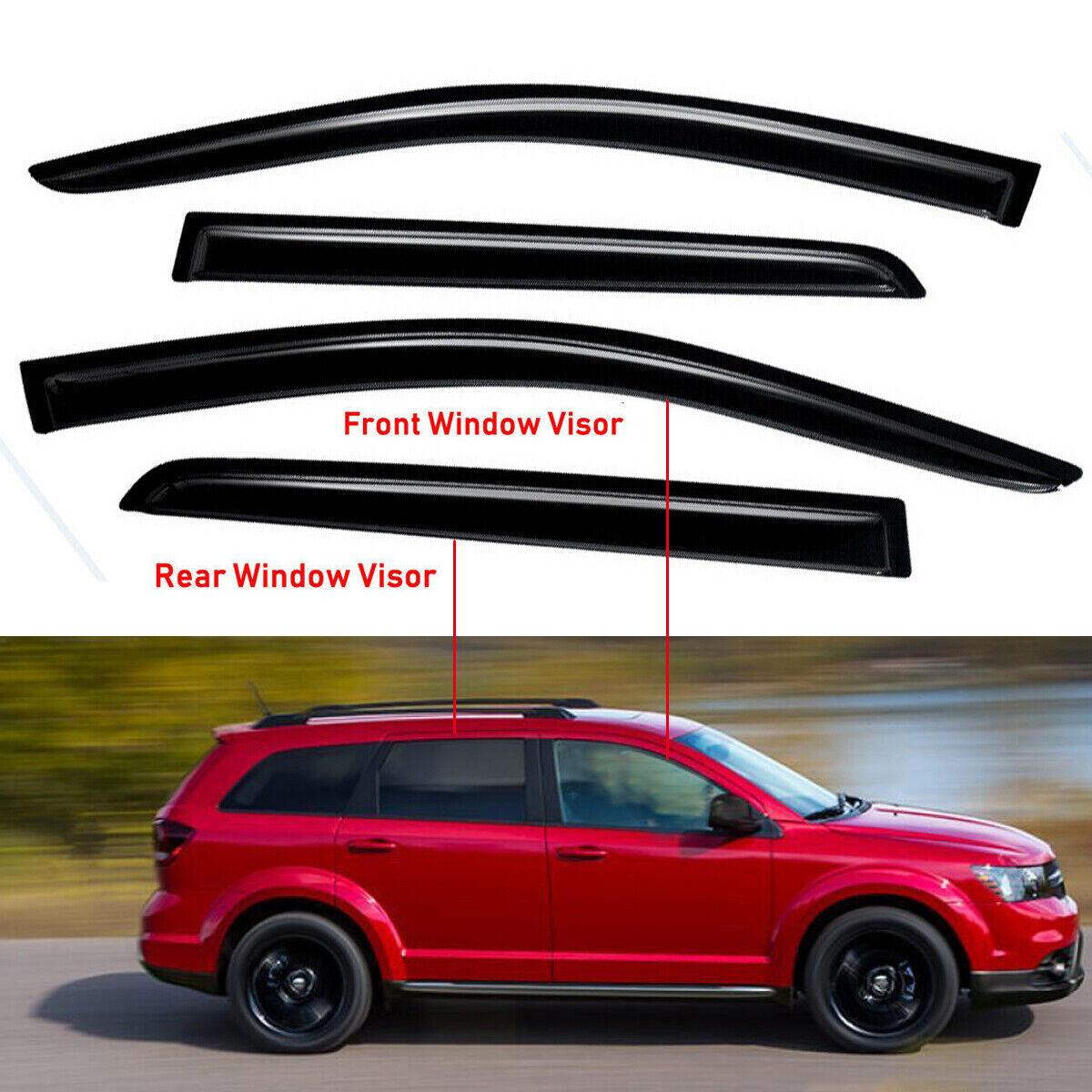For 2008-2019 Dodge Journey Smoke Vent Window Visor Rain