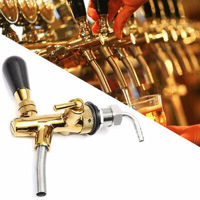 Adjustable Draft Beer Faucet Tap Flow Control G58 Chrome Gold Shank Kegerator