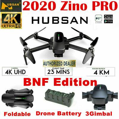 Hubsan Zino PRO 4KM Drone 5G Wifi APP 4K Camera Quadcopter 3Gimbal+Battery BNF