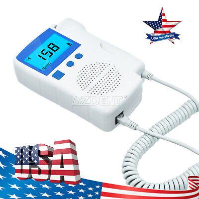 Prenatal Fetal Baby Heart Beat Monitor Fhr Ultrasonic Detector 3.0 Mhz Probe Usa