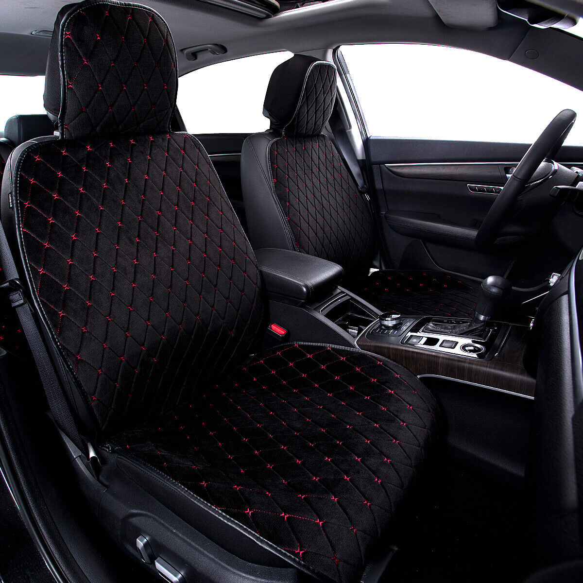 Details about Car Seat Cushion Universal Breathable Red Black fit for SUV  VAN Sedan Truck 1 pc
