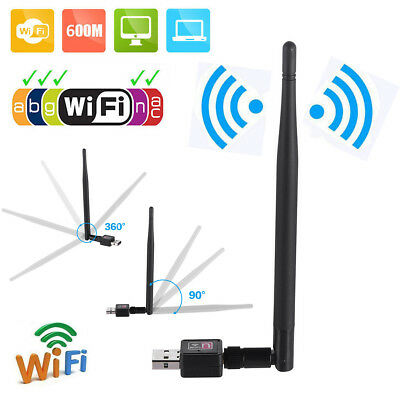 600Mbps Wireless USB WiFi Adapter Dongle Network LAN Card 80