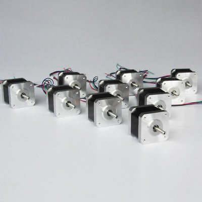 Big Sale 10pcs Nema17 Stepper Motor 48mm 4800g.cm48n.cm 2.5a 3d Printer Cnc