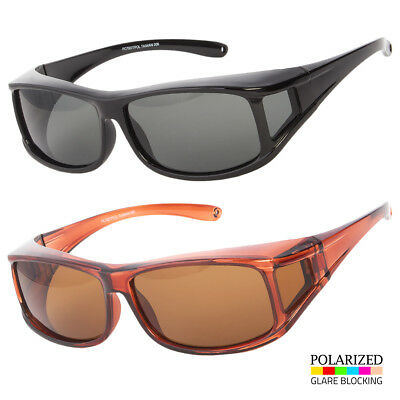 Polarized Cover Put Over Anti Glare Sunglasses Wear Rx Glass Fit Driving Medium