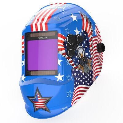 Big View True Color Pro Solar Welder Mask Tig Mig Auto Darkening Welding Helmet