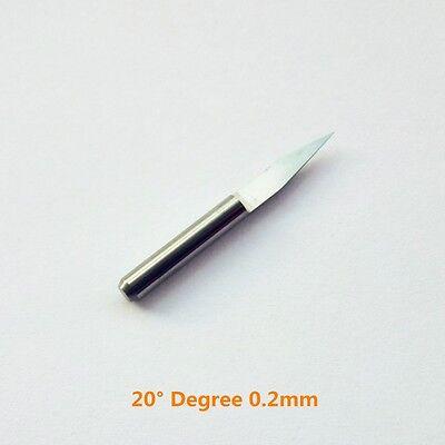 10pcs Carbide Pcb Engraving Bit Cnc Router Tool 20 Degree 0.2mm W Case