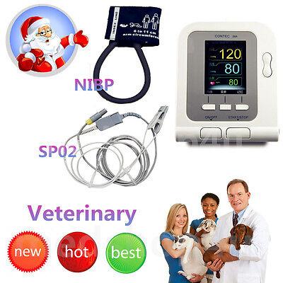 Contec Veterinary Digital Blood Pressure Monitor Tongue Spo2 Pr  Probe Cuff