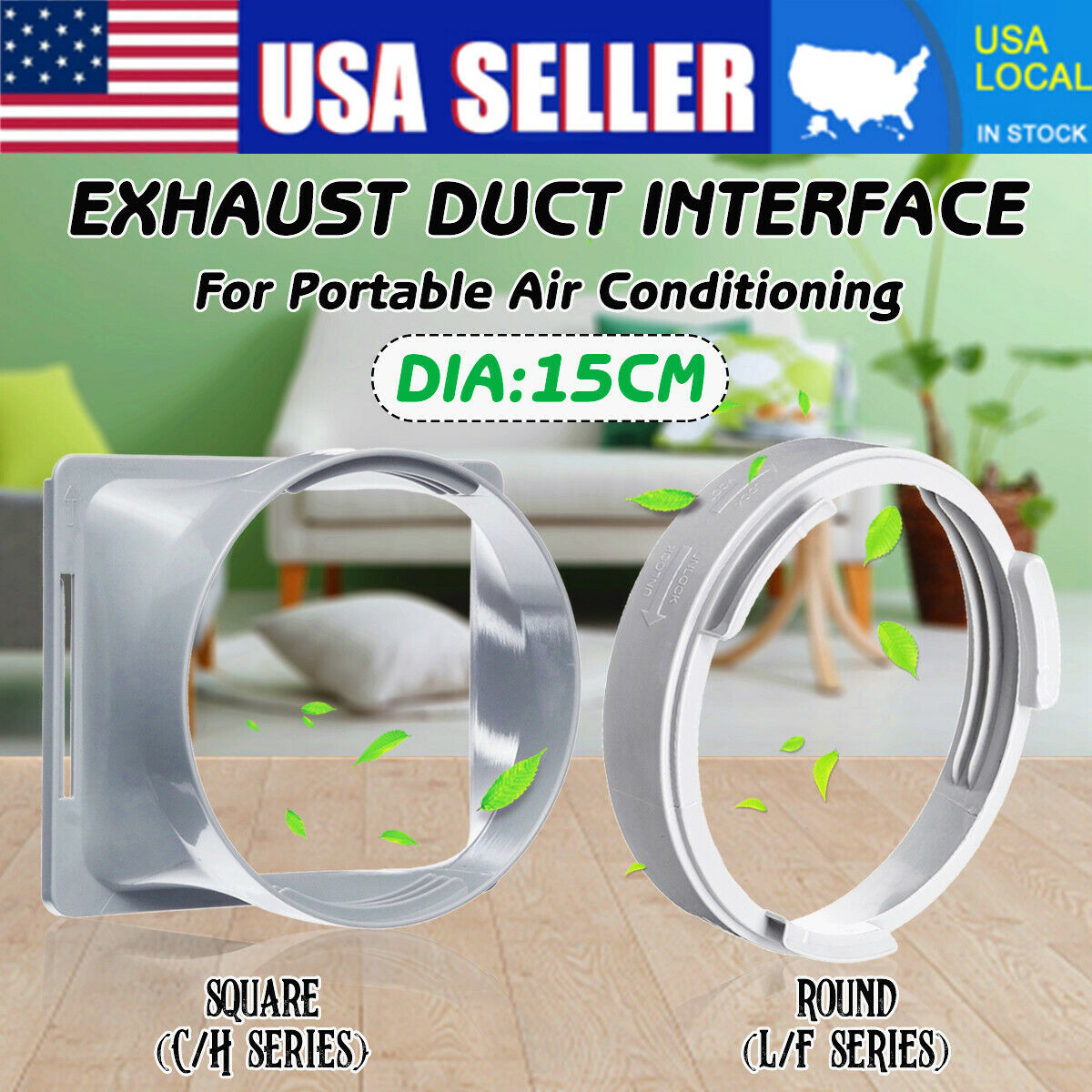 5.9''Dia Window Exhaust Duct Adapter L/F&C/H Series For Port