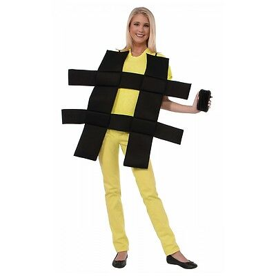 Hashtag Costume Adult Funny Halloween Fancy - Funny Mens Costume