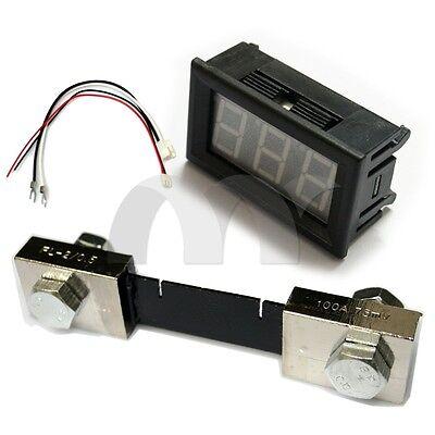 0.56 Blue Led Digital Dc Ammeter Amp Mini Current Panel Meter Dc 0 - 100a