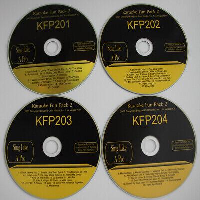 KARAOKE FUN PACK 2 NEW CD+G 4 Disc Set Mix Tracks,FROM OLD STOCK In Sleeves  segunda mano  Embacar hacia Argentina