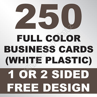 250 CUSTOM FULL COLOR PLASTIC BUSINESS CARDS | ROUNDED CORNERS | FREE - Business Cards Rounded Corners