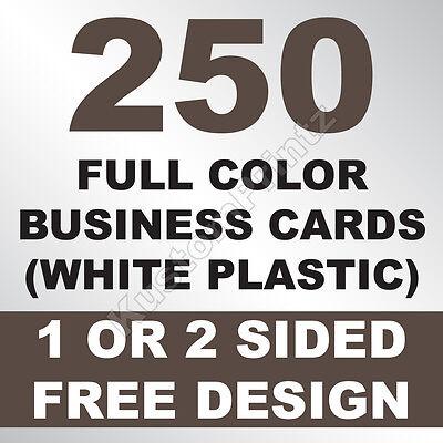 250 CUSTOM FULL COLOR PLASTIC BUSINESS CARDS | ROUNDED CORNERS | FREE - Business Cards Rounded Corners