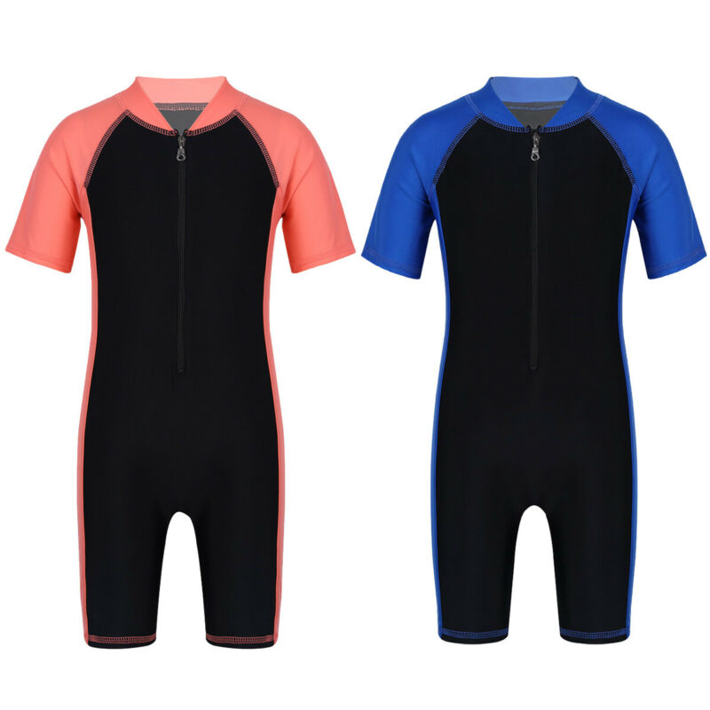 Baby Girls Boys Swimwear Swimsuit Sun Protection UV UPF50 One Piece Bathing Suit