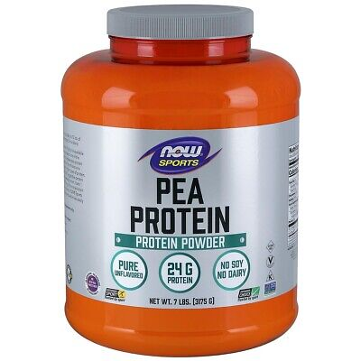 NOW Foods Pea Protein Natural Unflavored 7 lbs (3175g) Made In USA, FRESH