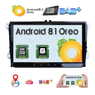 "9"" Android 8.1 Für VW Passat Golf Tiguan Jetta Seat Autoradio GPS DAB+ Navi OBD2"