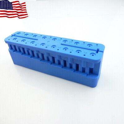 Easyinsmile 1pc Dental Measuring Ruler Block Endo File Stand Holder Autoclavable