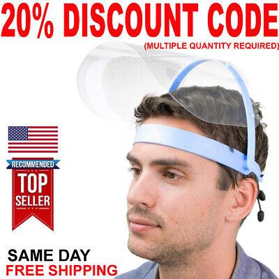 Clear Face Shield Mask for Protection Flip-Up Helmet Dentist Adjustable 2 4 5 10