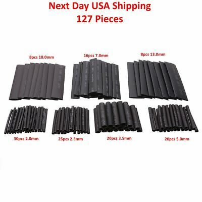 127pcs Heat Shrink Wire Wrap 21 Shrink Set Tubing Electrical Connection Cable