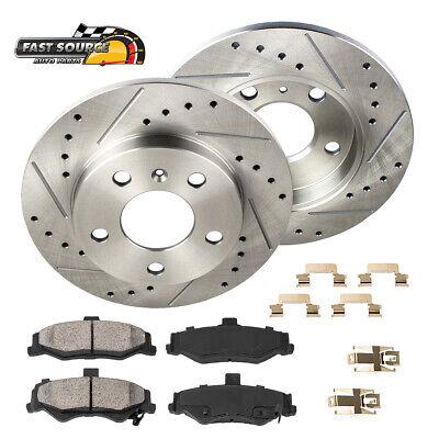 For Town & Country Grand Caravan Rear Drill Slot Brake Rotors & Ceramic Pads