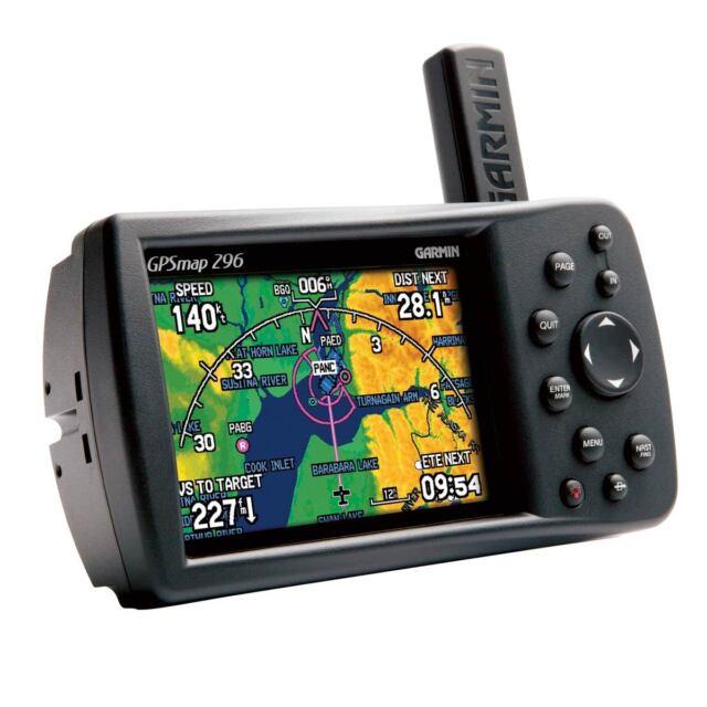 GARMIN GPS 296 COLOR AVIATION PILOT PORTABLE GPSMAP bundle 295 396 496 196 96C