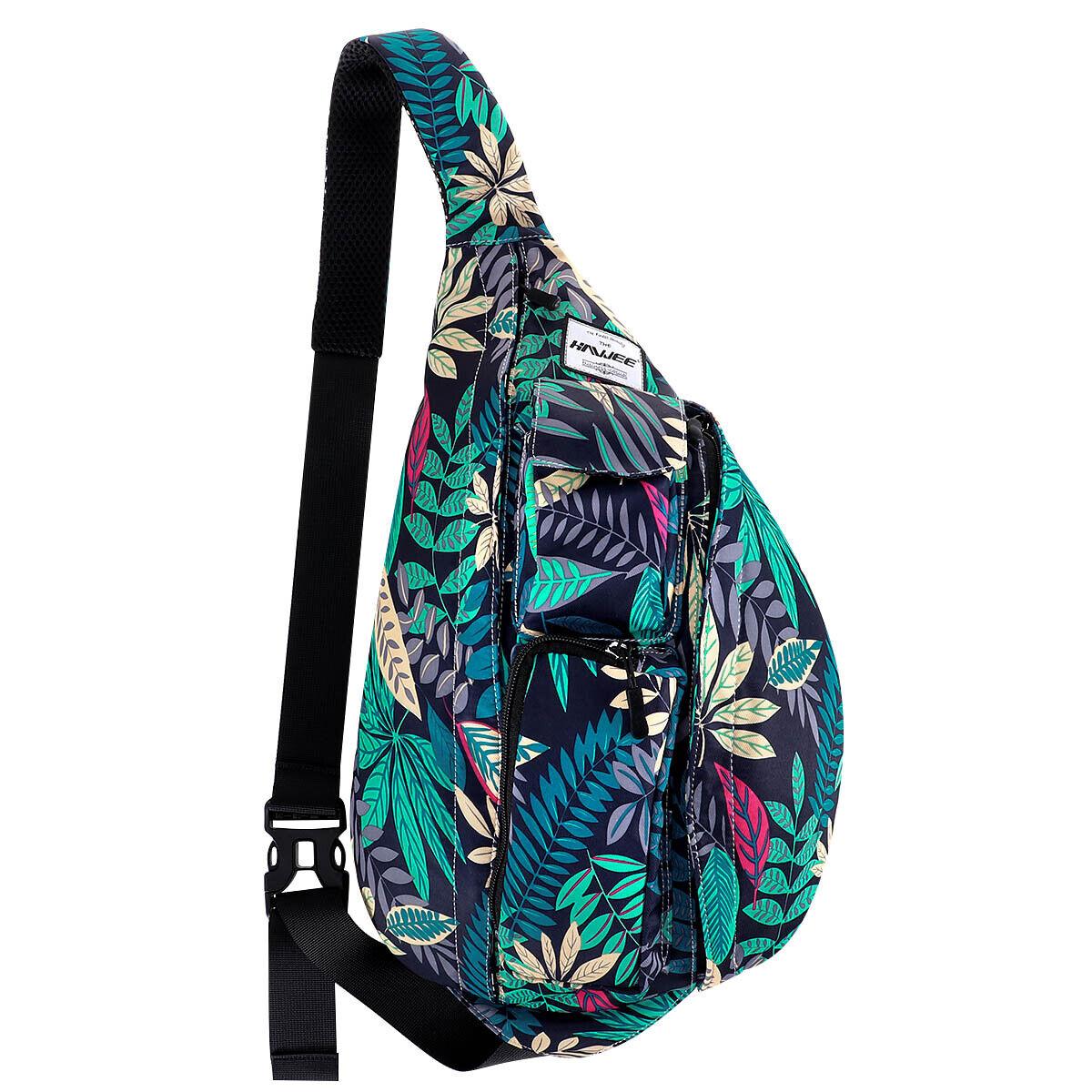 Rope Sling Bag - Canvas One Shoulder Sling Chest Bag for Wom