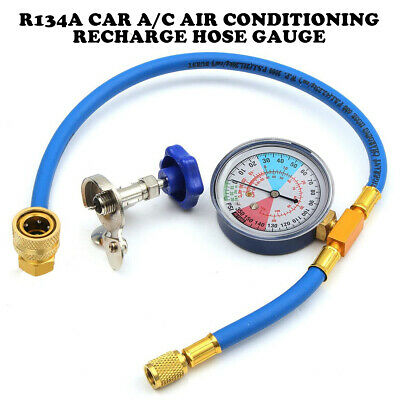 A/C Air Condition Refrigerant Recharge Hoses Tool Can Tap R-134A to R-12/R-22 UK