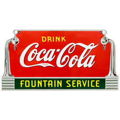 Drink Coca-cola Fountain Service Taps Wall Decal 24 X 13 Deco Style Coke Kitchen