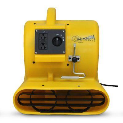 Zoom 13 Hp Floor Dryer 3 Speed Portable Air Blower Carpet Clamp 1200 Cfm Fan