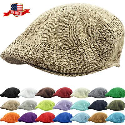 Classic Mesh Ivy Newsboy Ivy Cap Hat Crochet Driving Golf Ventair Ivy -