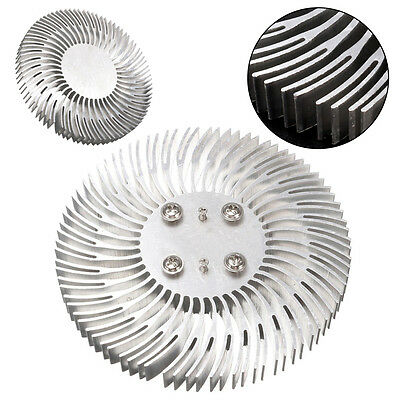 Round Spiral Aluminum Heat Sink Radiator 9010mm For 10w High Power Led Lamp