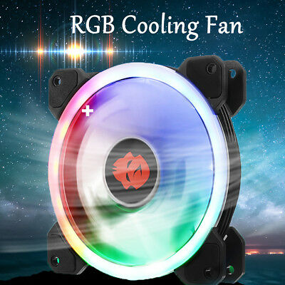 Led Case Fan (Computer Case PC RGB Cooling Fan Only Adjustable LED Light 120mm Quiet Cooler !)