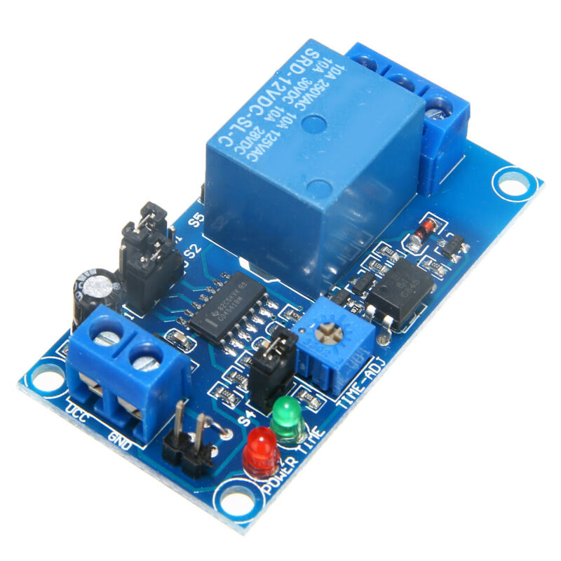 DC12V Time Delay Relay Module Circuit Timer Timing Board Swi