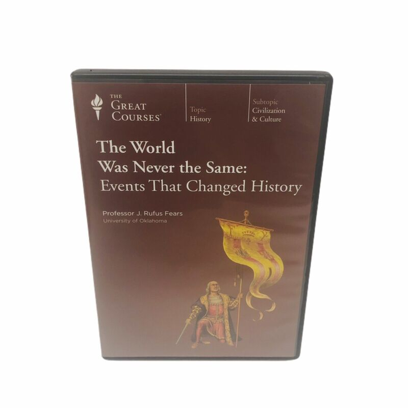 GREAT COURSES The World Was Never The Same Events That Changed History DVD Bin F
