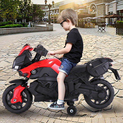 Kids 4 Wheel Electric Motorcycle Car 6V Bike Battery Powered Ride On Toy Car Red