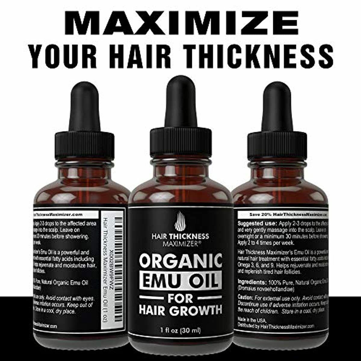 EMU Oil For Hair Growth Hair Thickness Maximizer Best Organi