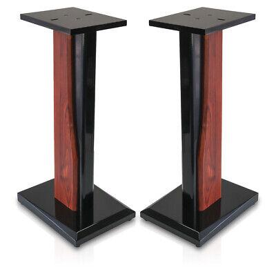 9HORN 24in Wood Speaker Stands Home-Theater HiFi Bookshelf Satellite Heavy-Duty