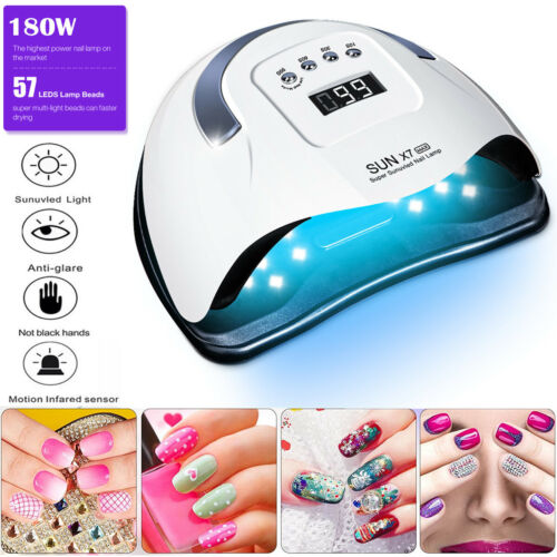 Professional LED UV Nail Dryer Gel Polish Lamp Salon Manicure MAX 180W SUN X7 US Health & Beauty