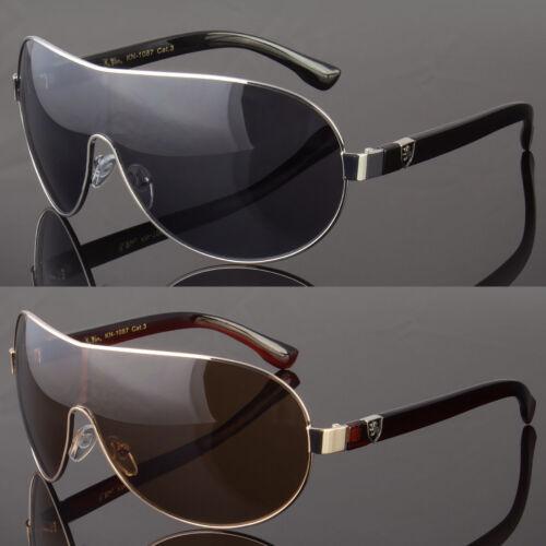 Khan Large Aviator Sunglasses Smoke Lens Men Metal Frame Vin