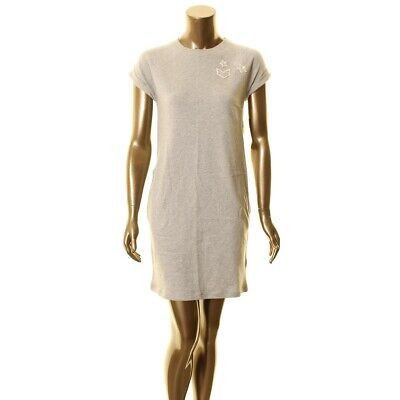 LAUREN RALPH LAUREN NEW Women's Patched French Terry Pocketed T-Shirt Dress TEDO