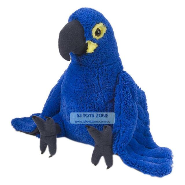 "Hyacinth Macaw 12""  Wild Republic Cuddlekins Stuffed Bird Kids Soft Plush Toy"