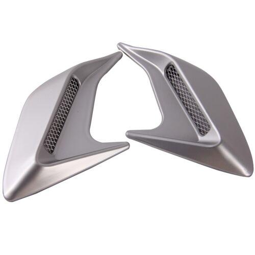 2x Universal Car SUV Decorative Air Scoop Flow Intake Hood Vent Bonnet DIY Style