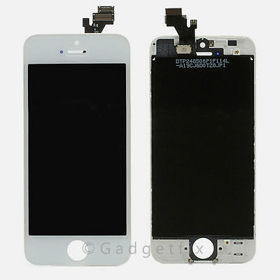 White Iphone 5 Compatible Front Housing LCD Touch Digitizer Screen Assembly USA