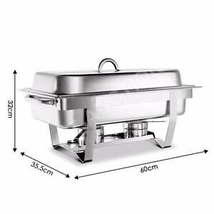 9L Stainless Steel Bain Marie Chafing Dish Buffet Food Warmer Cambridge Clarence Area Preview