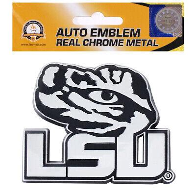 New NCAA LSU Tigers Real Chrome Metal Car Truck Auto 3D Emblem Tigers Chrome Auto Emblem